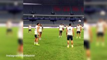 Ronaldo dazzles with no-look bouncing pass in Real training