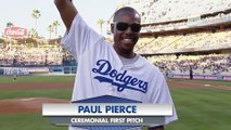 Paul Pierce Gets Booed Hard by Dodgers Fans During First Pitch