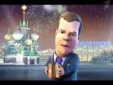 Vladimir Putin And Dmitry Medvedev Dance (english subtitles)