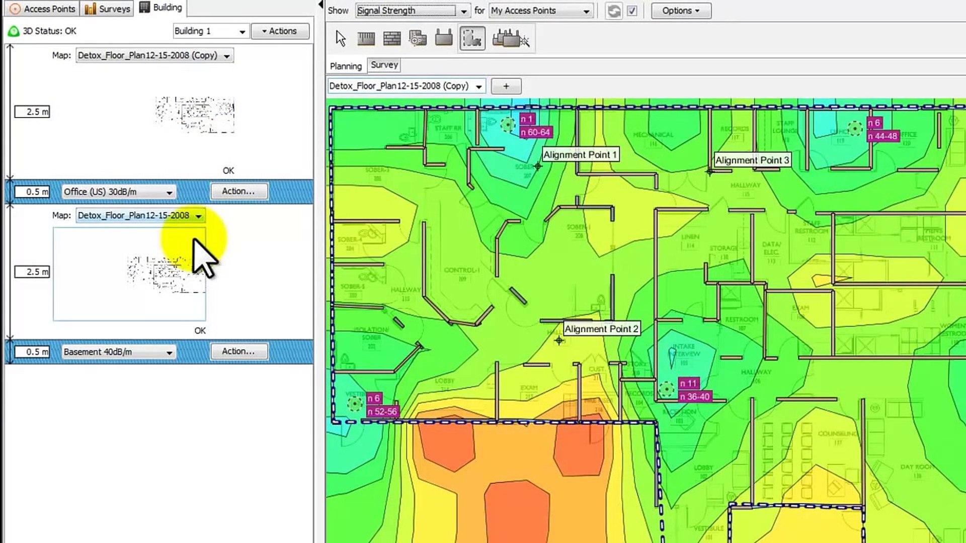 Ekahau Site Survey Professional: Planning with Multiple Floors