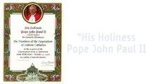 Hebrew Catholics: Papal Blessing 1998 (Pope John Paul II) to Association of Hebrew Catholics