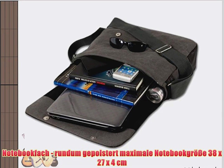 DANIEL RAY Umh?ngetasche NEVADA L Schultertasche Laptop Tasche Anthrazit