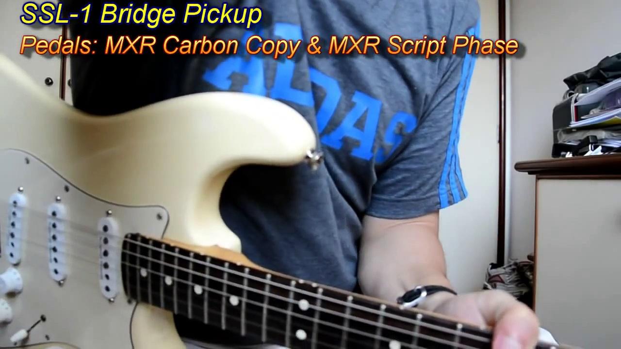 Fender Stock vs Seymour Duncan SSL 1 Pickups Comparison