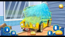 Yellow school BUS at the car wash  Car wash for kids  Cartoon about CAR WASH  CAR WASH cartoon