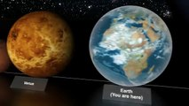 The Universe in 3D: Planet & Star Size Comparison - video