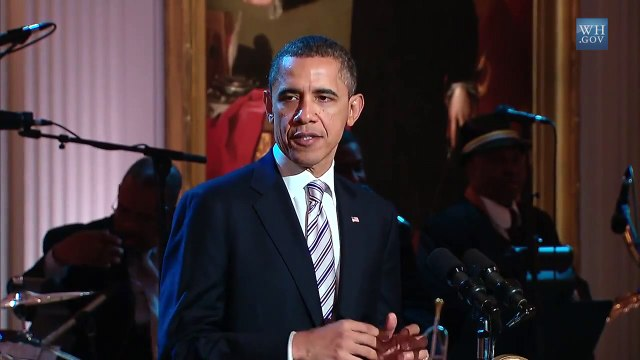 "President Obama Welcomes Guests to ""In Performance in the White House: Red, White and Blues"""