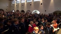 La prière scoute. Abbaye de Landévennec 2013