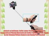 Arespark S1 Selfie-Stange f?r Smartphone wie iPhone Samsung Galaxy etc (Blau)