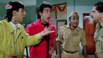 Aamir Khan and Salman Khan in Police Station - Andaz Apna Apna Comedy Scene