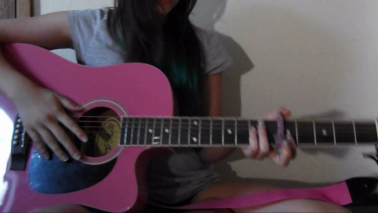 I DYED MY HAIR AND GUITAR TUTORIAL??