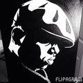 Classic Rappers by R8ke - Painting street art portraits of famous hip-hop and rap music idols.