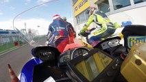 OnBoard vallelunga Moto Autodromo Vallelunga R6 Stock 8 marzo 2015 1.48.000