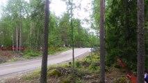 Rally de Finlandia: la velocidad de Nicolás Fuchs en shakedown