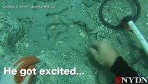 Un plongeur amateur trouve des pièces d'or d'une valeur d' 1 million de dollars !