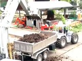 BIG RC CONSTUCTION SITE, HEAVY RC BUILDING MACHINES, RC WHEEL LOADER, RC TRACTOR