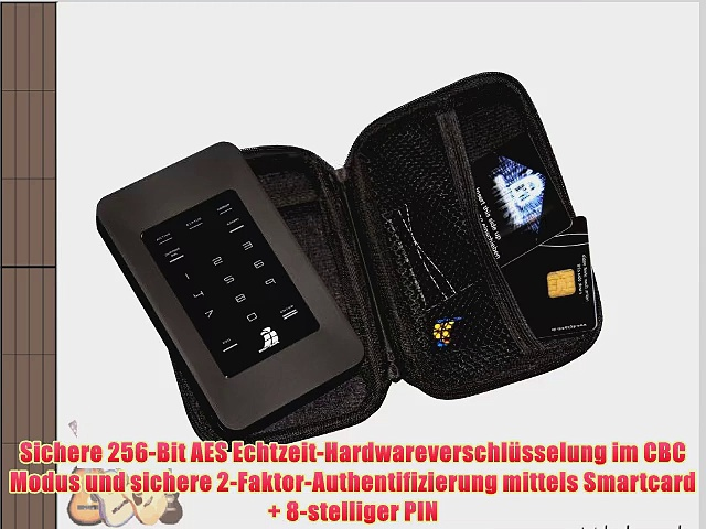 Digittrade HS256 750 GB High Security externe Festplatte mit 256-Bit AES (64 cm (25 Zoll) 7200rpm