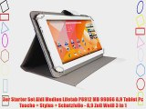 3er Starter Set Aldi Medion Lifetab P8912 MD 99066 89 Tablet Pc Tasche   Stylus   Schutzfolie