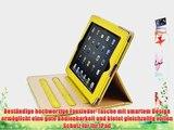 JAMMYLIZARD | Ledertasche Smart Case f?r iPad Air 2 2014 (6. Generation) GELB