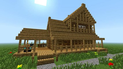 Minecraft How To Build Little Wooden House 2nd Floor Video Dailymotion
