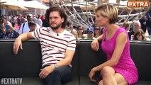Kit Harington Game of Thrones Answers Fan Questions Will Jon Snow Rescue Sansa Stark - SUB ITA