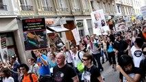 manifestation anti vivisection Lyon 6 octobre 2012 soutien aux militants italiens contre Green Hill