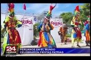 Peruanos en el mundo celebraron Fiestas Patrias