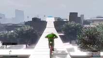 GTA 5 PS4 Impossible SNOW Race - BMX Bike Extreme Racing