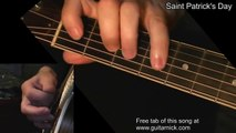 Saint Patrick's Day [WITH TAB] Guitar lesson! learn to play Irish Jig on acoustic guitar