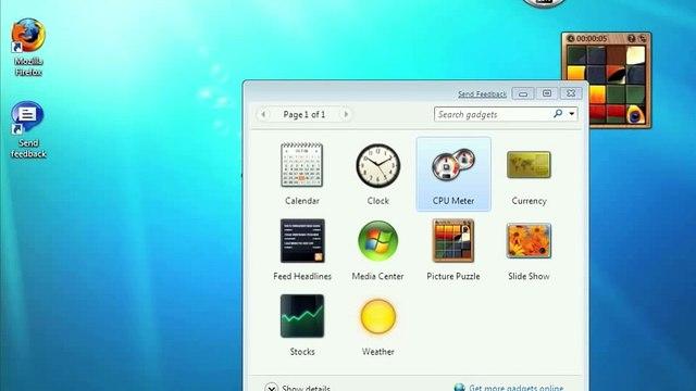 Windows 7: Gadgets, Stickies, Calculator, and Screenshots