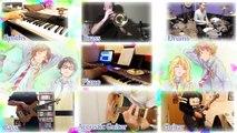 【Shigatsu wa Kimi no Uso OP】 Hikaru Nara 【コラボしました】 Band Cover