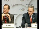 Andrew Jennings asks IOC president Jacque Rogge about Jean-Marie Weber's accreditation