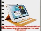 JAMMYLIZARD   Smart Case Ledertasche f?r Samsung Galaxy Tab 2 10.1 WEI?