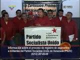 Convocatoria del Presidente Chávez a Inscribirse en el PSUV