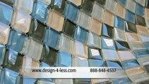 Glass Tile Backsplash Glass Tile Backsplashes Glass Tile Designer Tiles Glass Tile Design For Less