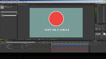 Text on a circle after effects - circular text path - circular text after effects tutorial