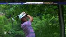 Golfer Rickie Fowler made Hole-In-One trick shot! The Quicken Loans National