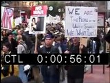 Stock Footage: 2001 Anti-War Protest Stock Footage