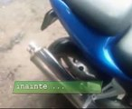 """exhaust sound from normal pipe to """"tuning"""" pipe suzuki sv 650"""