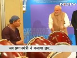 Narendra Modi plays drums alongside Japanese drummer at TCS event in Tokyo