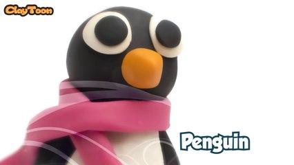 Penguin - Polymer clay tutorial  بطريق - تشكيل صلصال