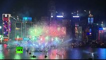 [HD]HAPPY NEW YEAR HONG KONG - Hong Kong Bang: Video of city's biggest ever New Year fireworks 2013