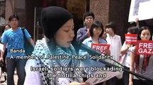 We condemn Israel's murdering of humanitarian workers on the Gaza flotilla.