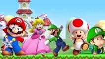 Finger Family Rhymes Super Mario Luigi Cartoons | Finger Family Children Nursery Rhymes 2D