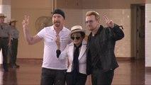 Yoko Ono And Bono Honor John Lennon With Tapestry