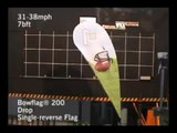 High Impact Wind Sail - Bow Flag 200 Wind Tunnel Video - Drop Style Single Reverse