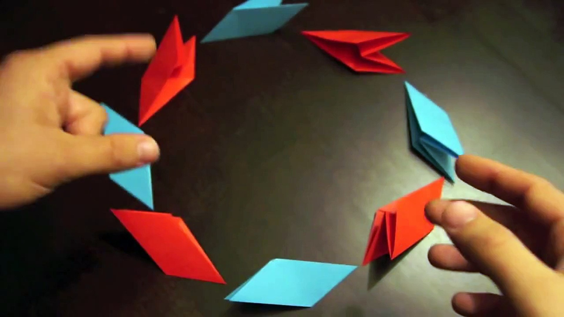 How To Make a Paper Transforming Ninja Star #2 - Origami - YouTube ... | 1080x1920
