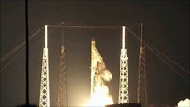 SpaceX Falcon 9 CRS-5 mission lift off and landing