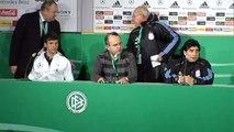 maradona pressekonferenz/conferencia de prensa argentina vs deutschland/alemania haha