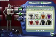 Sims 2 Tutorial, How to Create, and Design Clothes in Sims 2