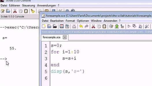 Scilab tutorial 4 For and While loops - video dailymotion